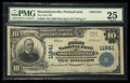 National Bank Notes:Pennsylvania, Shoemakersville, PA - $10 1902 Plain Back Fr. 633 The First NB Ch.# 11841. ...