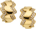 Estate Jewelry:Earrings, Diamond, Gold Earrings, Van Cleef & Arpels, French. ...