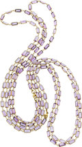 Estate Jewelry:Lots, Amethyst, Gold Necklaces. ...