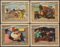 """Movie Posters:Western, They Died with Their Boots On (Warner Brothers, 1941). Lobby Cards (4) (11"""" X 14""""). Western.. ... (Total: 4 Items)"""