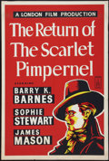 "Movie Posters:Adventure, Return of the Scarlet Pimpernel (London Films, R-1950s). BritishOne Sheet (27"" X 40""). Adventure.. ..."