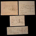 Colonial Notes:Connecticut, Connecticut Four Handwritten Fiscal Documents signed by John Lawrence. Very Fine to Extremely Fine.. ... (Total: 4 notes)