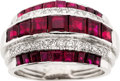 Estate Jewelry:Rings, Art Deco Ruby, Diamond, Platinum Ring, Raymond Yard. ...