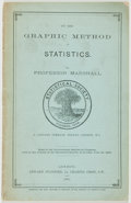 Books:Business & Economics, Professor Alfred Marshall. On the Graphic Method of Statistics. London: Edward Stanford, 1885. First edition. From...