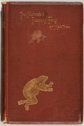 Books:Literature Pre-1900, Mark Twain. The Celebrated Jumping Frog of Calaveras County,And other Sketches. New York: C. H. Webb, 1869. Thi...