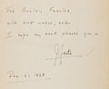 Books:Literature 1900-up, John Fante. Wait Until Spring, Bandini. NY: Stackpole, 1938. First edition. Inscribed....