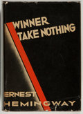 Books:Literature 1900-up, Ernest Hemingway. Winner Take Nothing. New York: CharlesScribner's Sons, 1933. First edition....