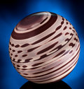 Lapidary Art:Spheres, LARGE ZEBRA ROCK SPHERE. ...