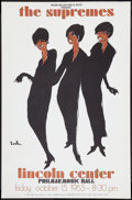 "Movie Posters:Rock and Roll, The Supremes (1965). Concert Poster (25"" X 38""). Rock and Roll....."