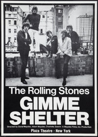 "Gimme Shelter (20th Century Fox, 1970). One Sheet (25"" X 35""). Rock and Roll"