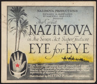 "Eye for Eye (Metro, 1918). Title Lobby Card (11"" X 13""). Drama"