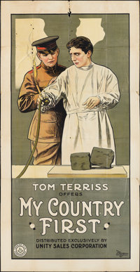 """My Country First (Unity Sales, 1916). Three Sheet (41"""" X 81""""). Drama"""