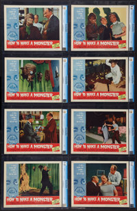 "How to Make a Monster (American International, 1958). CGC Graded Lobby Card Set of 8 (11"" X 14""). Horror..."