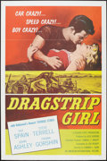 "Movie Posters:Bad Girl, Dragstrip Girl (American International, 1957). One Sheet (27"" X41"") Flat Folded. Bad Girl.. ..."