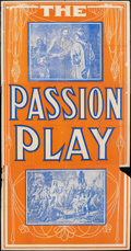 "Movie Posters:Drama, The Passion Play (Edison, R-1930s). Three Sheet (41"" X 81""). Drama.. ..."