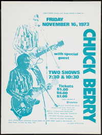 "Chuck Berry (Eder Production, 1973). Concert Poster (18.5"" X 24.5""). Rock and Roll"