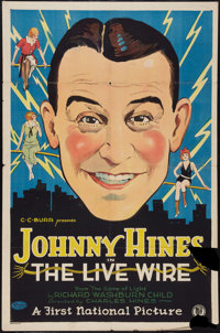 "The Live Wire (First National, 1925). One Sheet (27"" X 41""). Comedy"
