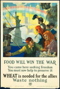 "Movie Posters:War, World War I Propaganda (US Food Administration, 1917). Poster (20""X 30"") ""Food Will Win the War."" War.. ..."