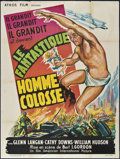 "Movie Posters:Science Fiction, The Amazing Colossal Man (Athos Film, 1957). French Grande (47"" X63""). Science Fiction.. ..."