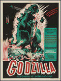 "Movie Posters:Science Fiction, Godzilla (Trans World, 1956). French Petite (23.5"" X 31.5"").Science Fiction.. ..."