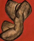 Impressionism & Modernism:Abstraction, RICHARD POUSETTE-DART (American, 1916-1992). The Dancer,1937. Gouache and conte on paper. 12-1/2 x 10-1/8 inches (31.8 ...