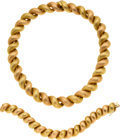Estate Jewelry:Suites, Gold Jewelry Suite. ...