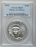 Modern Bullion Coins, 2008 $100 Plat. One Oz. MS69 PCGS. PCGS Population (252/57).(#393111)...