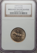Statehood Quarters, 1999-D 25C Delaware Brilliant Uncirculated NGC. NGC Census:(0/1230). PCGS Population (0/1938). Numismedia Wsl. Price for ...