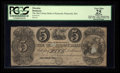 Obsoletes By State:Massachusetts, Plymouth, MA- Old Colony Bank at Plymouth Altered $5 Aug. 1, 1853UNL. ...