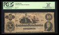Confederate Notes:1862 Issues, T46 $10 1862 PF-2 Cr. 343 .. ...