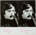 Books:Americana & American History, Edward Albee (1928-, American Playwright). Two Signed Photos.[N.p., n.d., ca. 1980]. Each is approximately 7 x 3.5 inches. ...