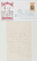 Books:Americana & American History, Horatio Alger, Jr. (1832-1899, American Juvenile Writer). AutographLetter Signed. New York, Dec. 11, 1886. Approximately 7 ...