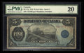 Canadian Currency: , DC-21g $5 1912. ...