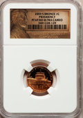 Proof Lincoln Cents, 2009-S 1C Bronze Presidency PR69 Red Ultra Cameo NGC. NGC Census: (11672/2108). PCGS Population (4174/289). Numismedia Wsl...