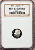 Proof Roosevelt Dimes, 2007-S 10C Silver PR70 Ultra Cameo NGC. NGC Census: (0). PCGS Population (405). Numismedia Wsl. Price for problem free NGC...