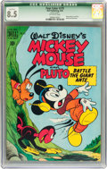 Golden Age (1938-1955):Funny Animal, Four Color #279 Mickey Mouse (Dell, 1950) CGC Qualified VF+ 8.5Off-white pages....