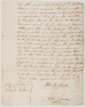 Books:Americana & American History, [Autograph Contract]. Early American Nineteenth-Century ManuscriptContract Signed. New York: 25th Jany. 1806. Approximately...
