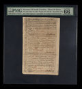 Colonial Notes:North Carolina, North Carolina December, 1771 2s6d House; £1; 10s Uncut Sheet ofThree PMG Gem Uncirculated 66 EPQ.. ...