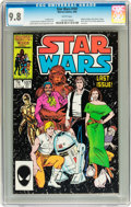 Modern Age (1980-Present):Science Fiction, Star Wars #107 (Marvel, 1986) CGC NM/MT 9.8 White pages....