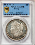 Morgan Dollars, 1878 7/8TF $1 Strong MS61 Prooflike PCGS Secure. PCGS Population(15/250). NGC Census: (16/229). Numismedia Wsl. Price for...