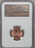 Lincoln Cents, 2009 1C Formative, First Day Ceremony MS66 Red NGC. PCGS Population (1742/0). (#407835)...