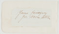 Books:Literature Pre-1900, William Dean Howells (1837-1920, American Author and LiteraryCritic). Clipped Signature. [N.p.], April 2, 1881. Approximate...