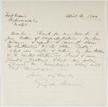 Autographs:Authors, Gerald du Maurier (1873-1934, English Actor and Manager). AutographLetter Signed. Fort Hapin [?], April 16, 190?. Approxima...