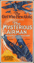 """Movie Posters:Serial, The Mysterious Airman (Weiss Brothers Artclass Pictures, 1928). Three Sheet (41"""" X 81""""). Chapter 2 -- """"The Girl Who Flew Alo..."""