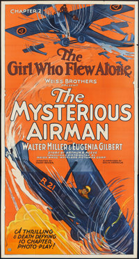 "The Mysterious Airman (Weiss Brothers Artclass Pictures, 1928). Three Sheet (41"" X 81""). Chapter 2 -- ""Th..."