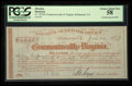 Obsoletes By State:Virginia, Richmond, VA- Commonwealth of Virginia £20, 16s, 8d June 30, 1879 Cr. 1879A. ...