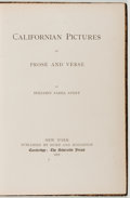 Books:Literature Pre-1900, Benjamin Parke Avery. Californian Pictures in Prose andVerse. New York: Hurd, 1878. Early reprint. Octavo. 344 page...