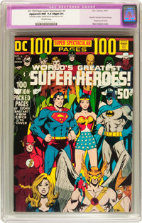 DC 100-Page Super Spectacular #6 World's Greatest Super-Heroes! (DC, 1971) CGC Apparent NM 9.4 Slight (P) Off-white page...