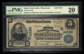 National Bank Notes:Wisconsin, Saint Croix Falls, WI - $5 1902 Plain Back Fr. 606 The First NB Ch. # (M)11526. ...