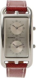 Luxury Accessories:Accessories, Hermes Deux Zones Cape Cod Elan Watch. ...